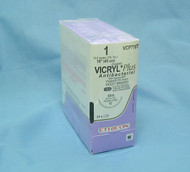 Ethicon VCP718T Vicryl Plus anitbacterial Suture, 1, OS-8 needle