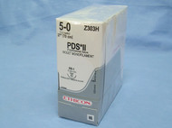 """Ethicon Z303H PDS ll Suture, 5-0, 27"""", RB-1 needle"""