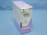 """Ethicon J977H Vicryl Suture, 1, 36"""" Undyed, CTX taper"""