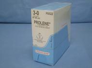 "Ethicon P8522 Prolene Suture, 3-0, 36"", SH Taper, Double Armed"