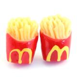 Funky Mini M Fries Stud Earrings