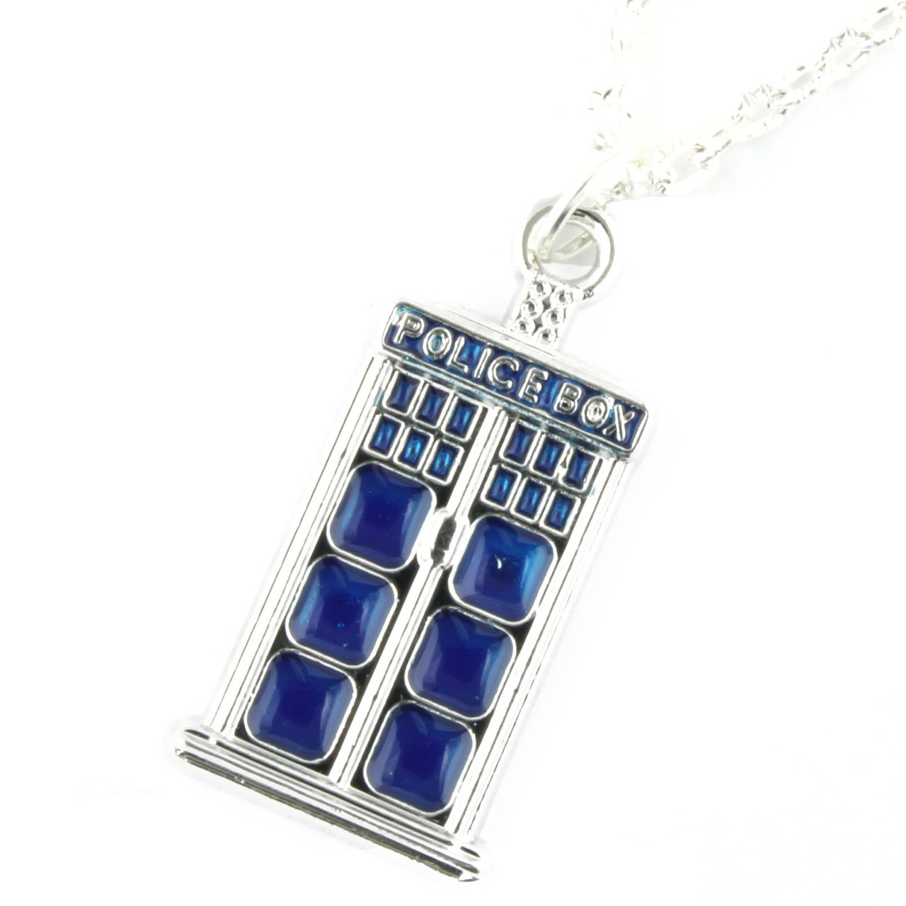 Funky Dr Who Tardis Necklace