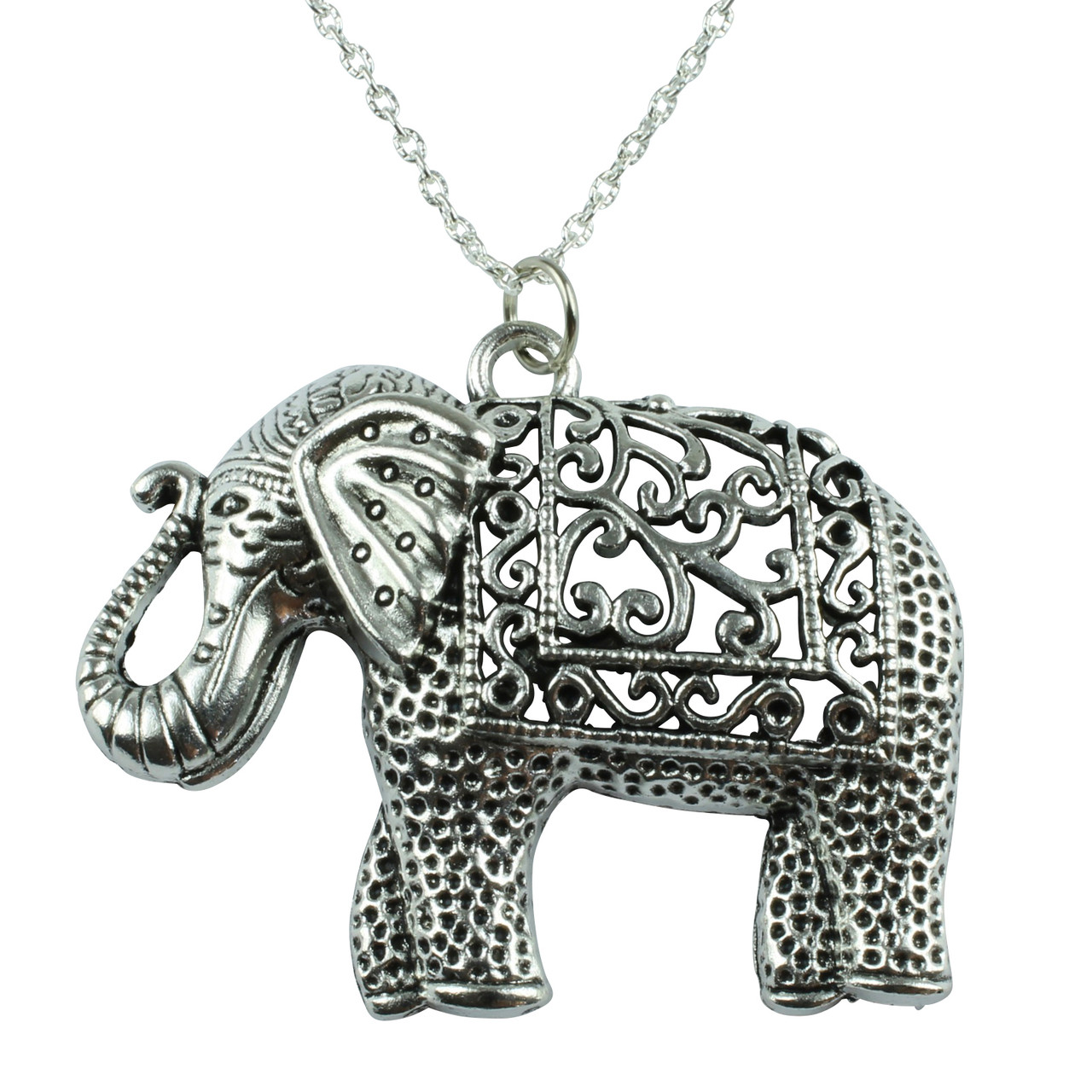 jewelry elephant listing fullxfull chain large charm pewter tibetan long pendant ornately silver il detailed necklace animal gift carved short present birthday