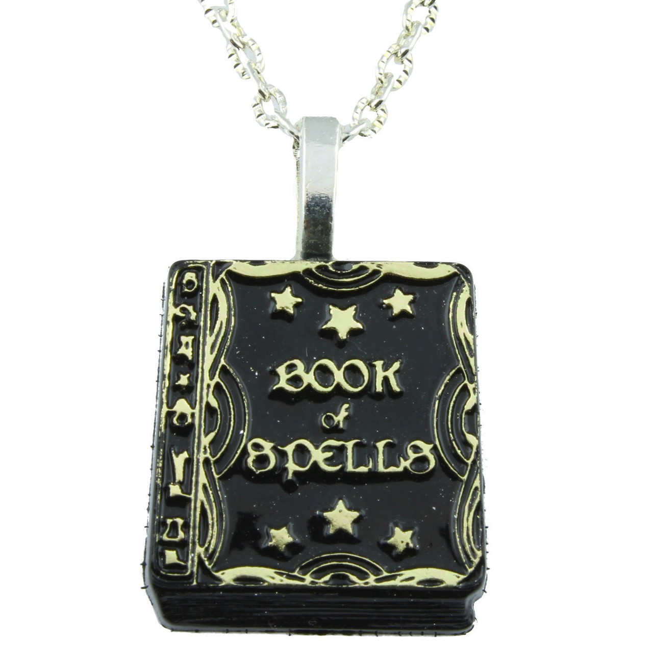 Funky Book of Spells Necklace