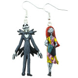 Funky Disney Jack & Sally Earrings