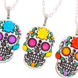 Funky 3D Sugar Skull Necklace