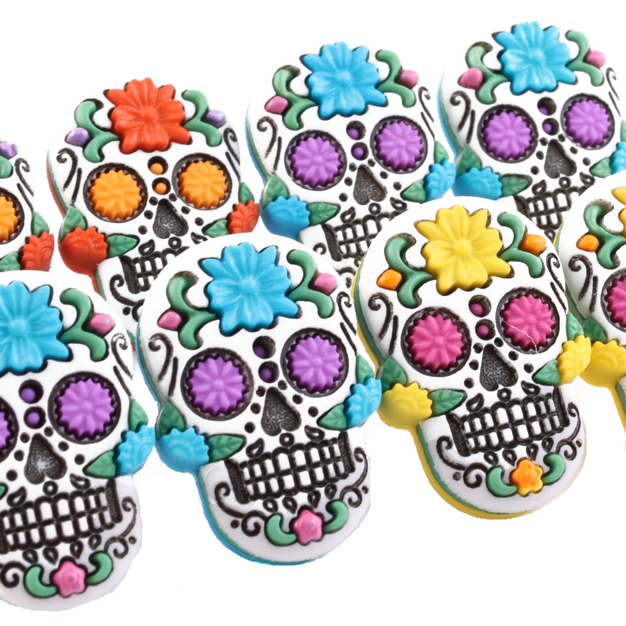 Funky 3D Skull Earrings