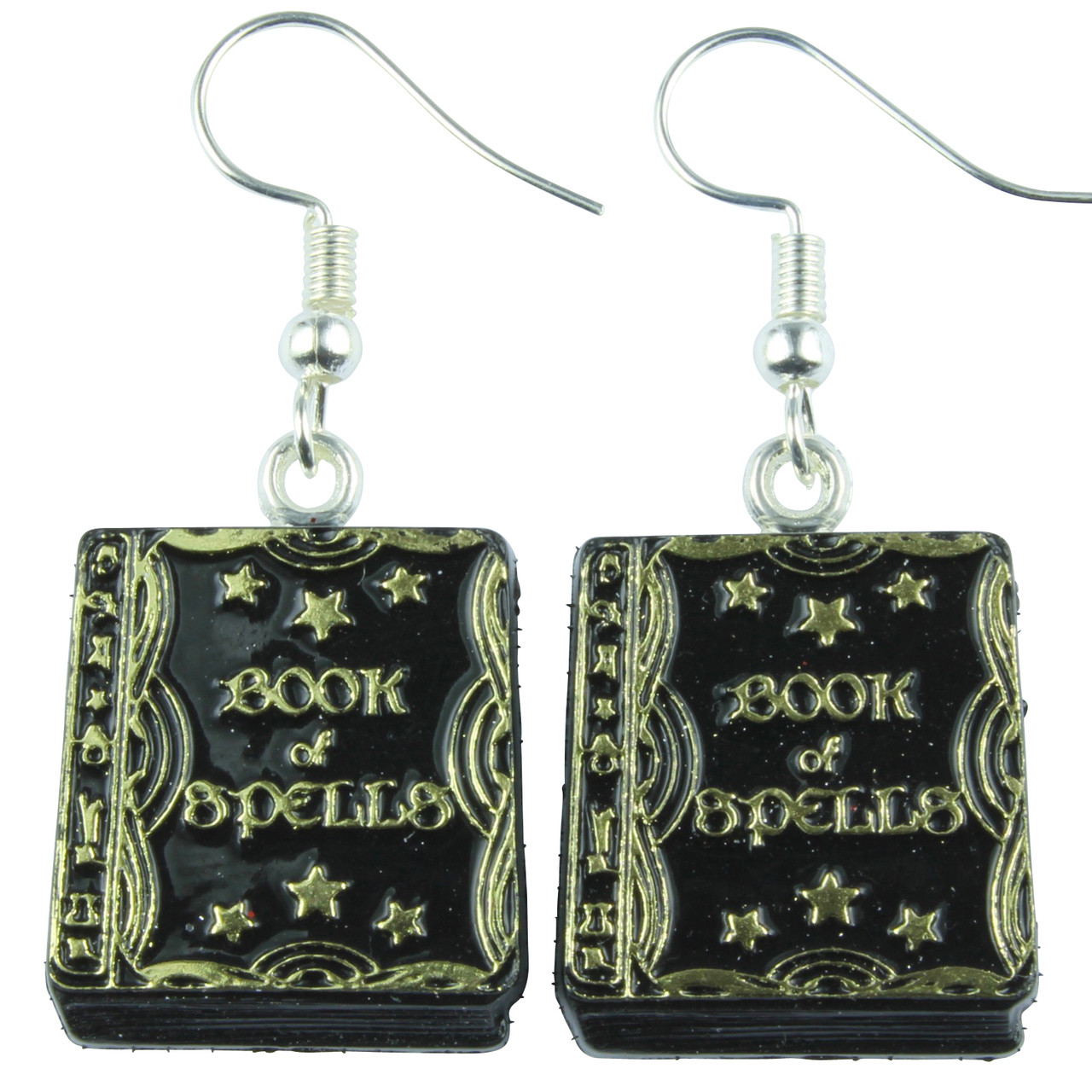Funky Book of Spells Dangle Earrings
