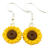 Funky Wild Sunflower Dangle Earrings