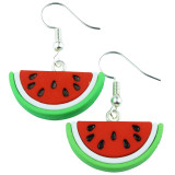 Tropical Watermelon Dangle Earrings