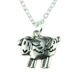 Baby Silver Lamb Necklace