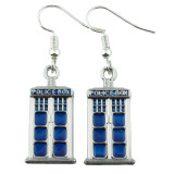 TARDIS Dangle Earrings