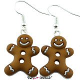 ICED GINGERBREAD COOKIE Dangle Earrings