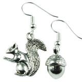 SQUIRREL & NUTS Dangle Earrings