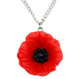POPPY DAY Large Poppy Pendant Necklace