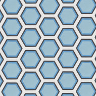 HEXAGON SKY BLUE CEMENT TILES