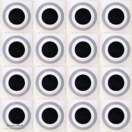 BULLSEYE BLACK CEMENT TILES