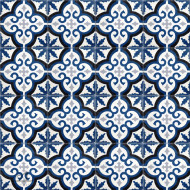 MEDALLION NAVY CEMENT TILES