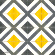 CORNER DIAMOND YELLOW CEMENT TILES