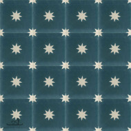 STARS COLONIAL BLUE CEMENT TILES
