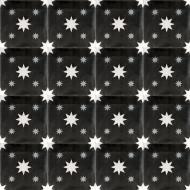 DOUBLE STARS BLACK CEMENT TILES