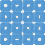 STARS ELECTRIC BLUE CEMENT TILES