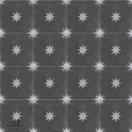 STARS CHARCOAL GREY CEMENT TILES