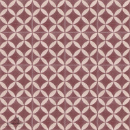 CITRUS BURGUNDY CEMENT TILES