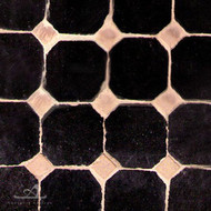 "CORA CAB (1"") BLACK MOSAIC TILES"