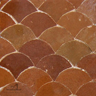 SCALLOPS OCRE MOSAIC TILES
