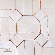 GEO HEX WHITE MOSAIC TILE