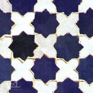 CROSS & STAR COBALT MOSAIC TILE