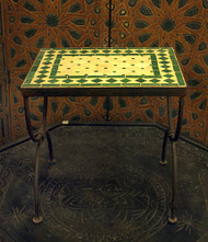SMALL GREEN NESTING TABLE