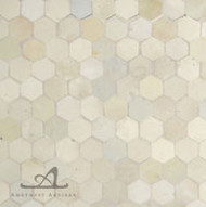 HEXAGON WHITE MOSAIC TILE