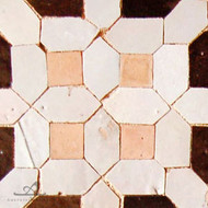 8 WHITE & BROWN MOSAIC TILE