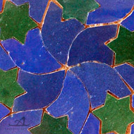 STARS BLUE & GREEN MOSAIC TILE