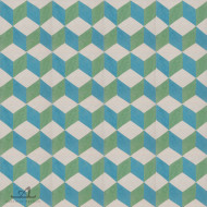 ESCHER BLUE/GREEN CEMENT TILE