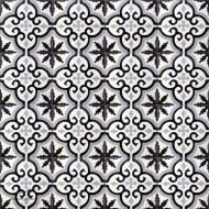 MEDALLION WHITE CEMENT TILE