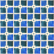 SHAMROCK COBALT CEMENT TILE