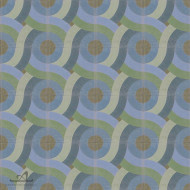 SWIRL BLUE CEMENT TILE