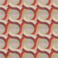 SWIRL SUNSET CEMENT TILE