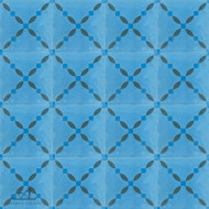 CLOTURE BLUE CEMENT TILES