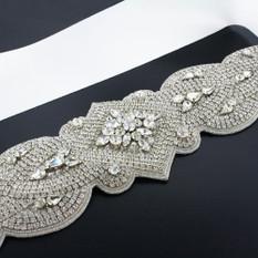 GIAVAN Dramatic Crystal Bridal Sash BL36