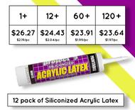12 pack of Siliconized Acrylic Latex Caulk