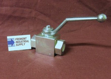 """(Qty of 1) Hydraulic Ball Valve 2 way 1/2"""" NPT 7250 PSI Gemels GE2NNT35011A000 FREE SHIPPING"""