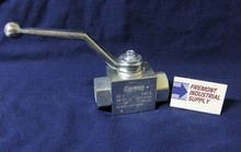 (Qty of 1) Hydraulic Ball Valve 2 way #6 SAE ports 7250 PSI Gemels GE2EEE15011A000 FREE SHIPPING