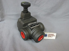 """(Qty of 1) Inline hydraulic pilot operated relief valve 1-1/4"""" NPT 1000-3000 PSI adjustment range FREE SHIPPING"""