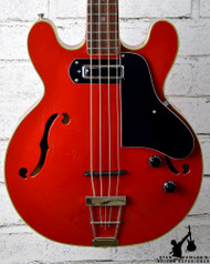 Vintage 1970s Electra Japan Hollowbody Bass Red