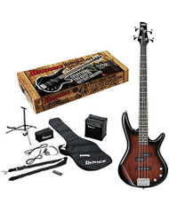Ibanez IJXB150B Jumpstart Bass Package Walnut Sunburst