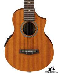 Ibanez UEW15E Flame Mahogany Acoustic Electric Ukulele Natural